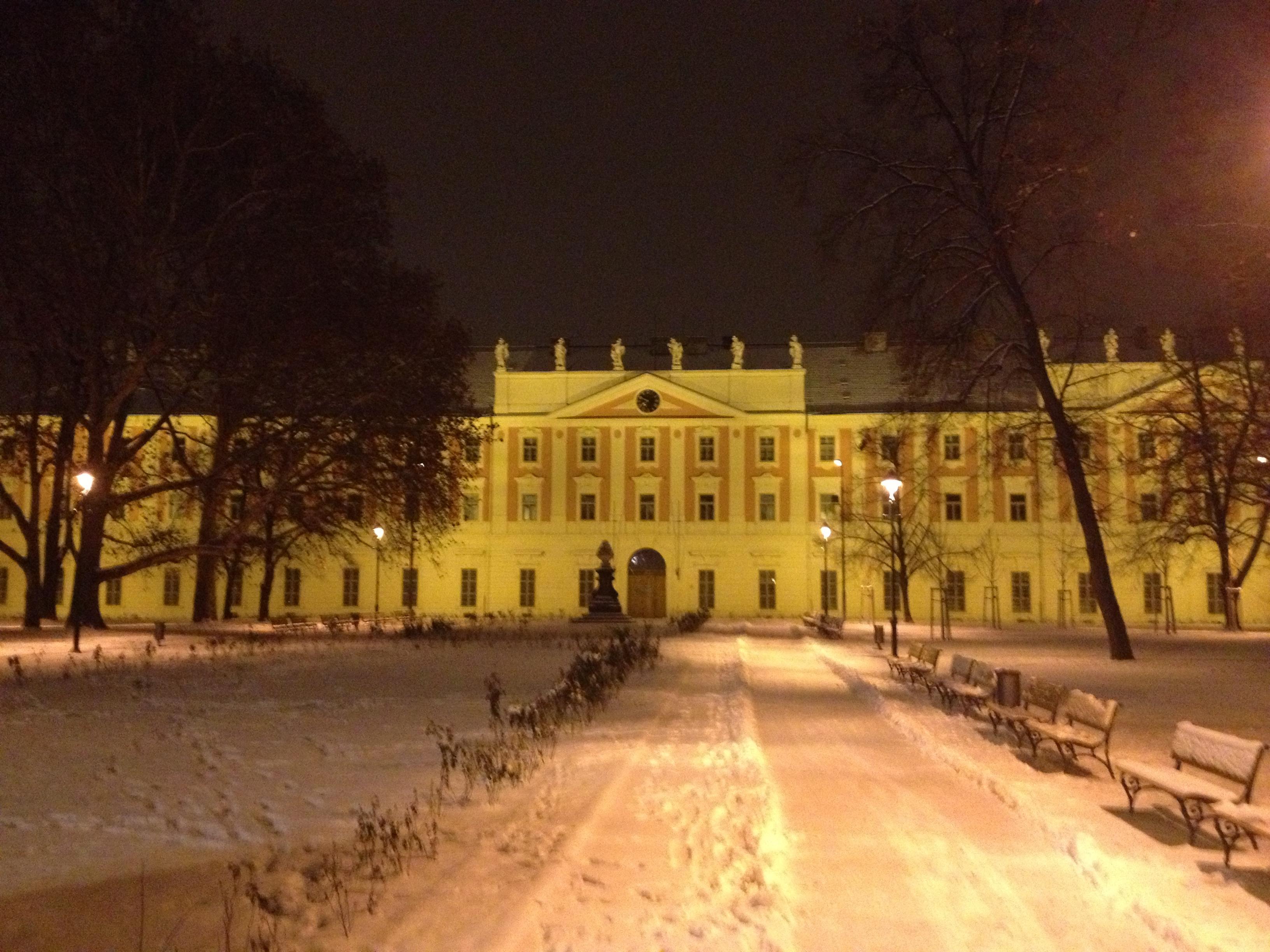 Дом инвалидов в вечернем освещении