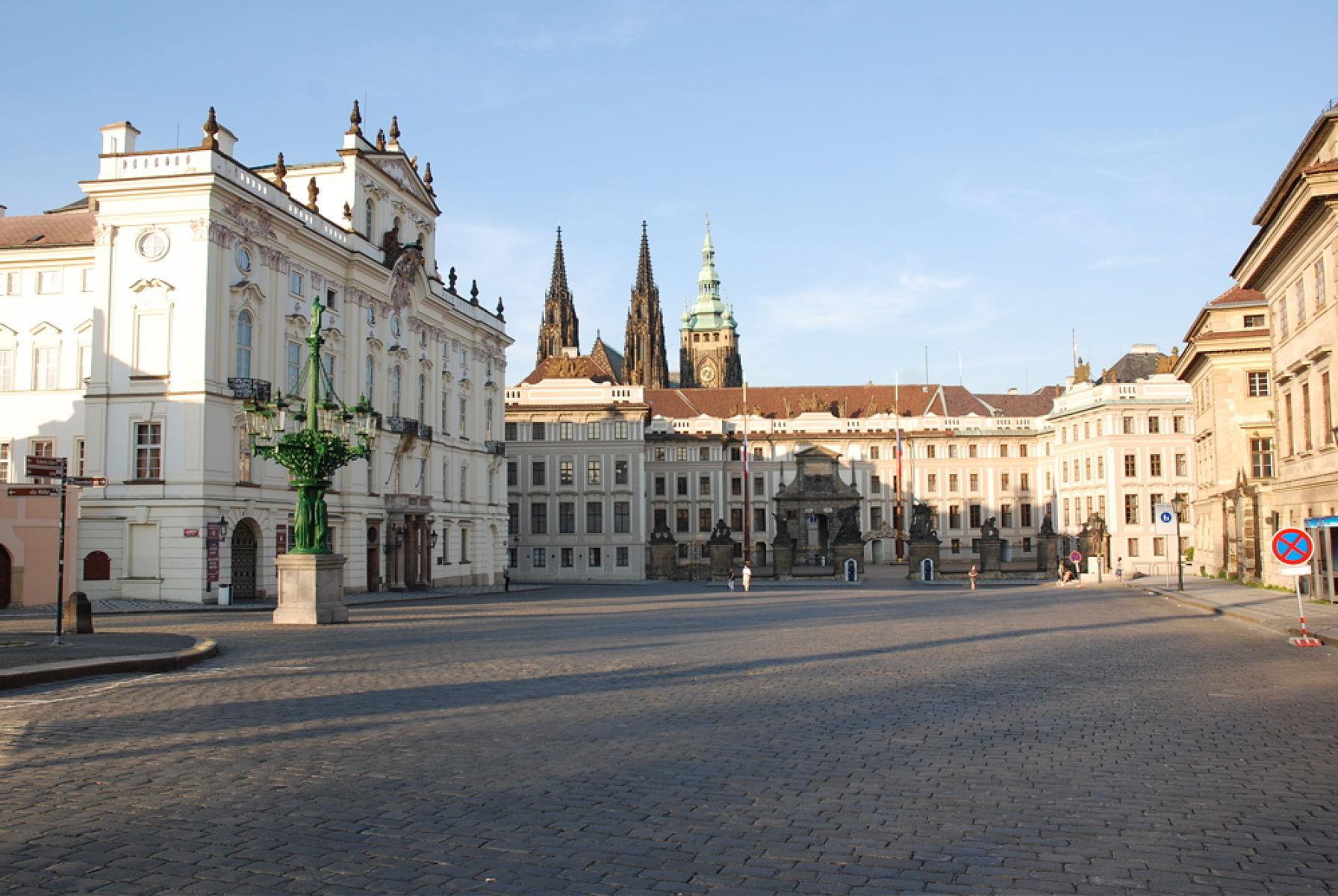 Архиепископский дворец с видом на Град