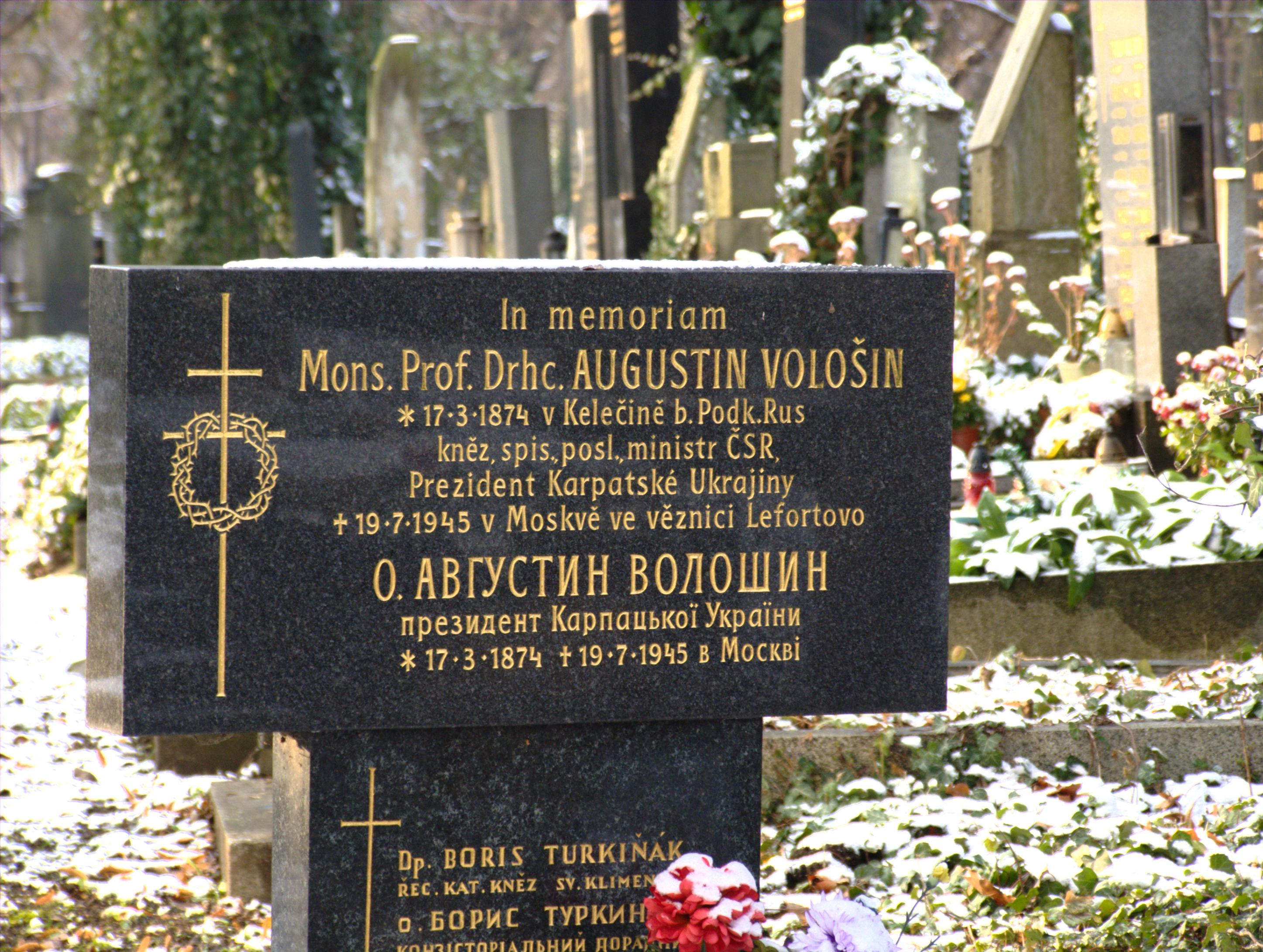 Могила Августина Волошина