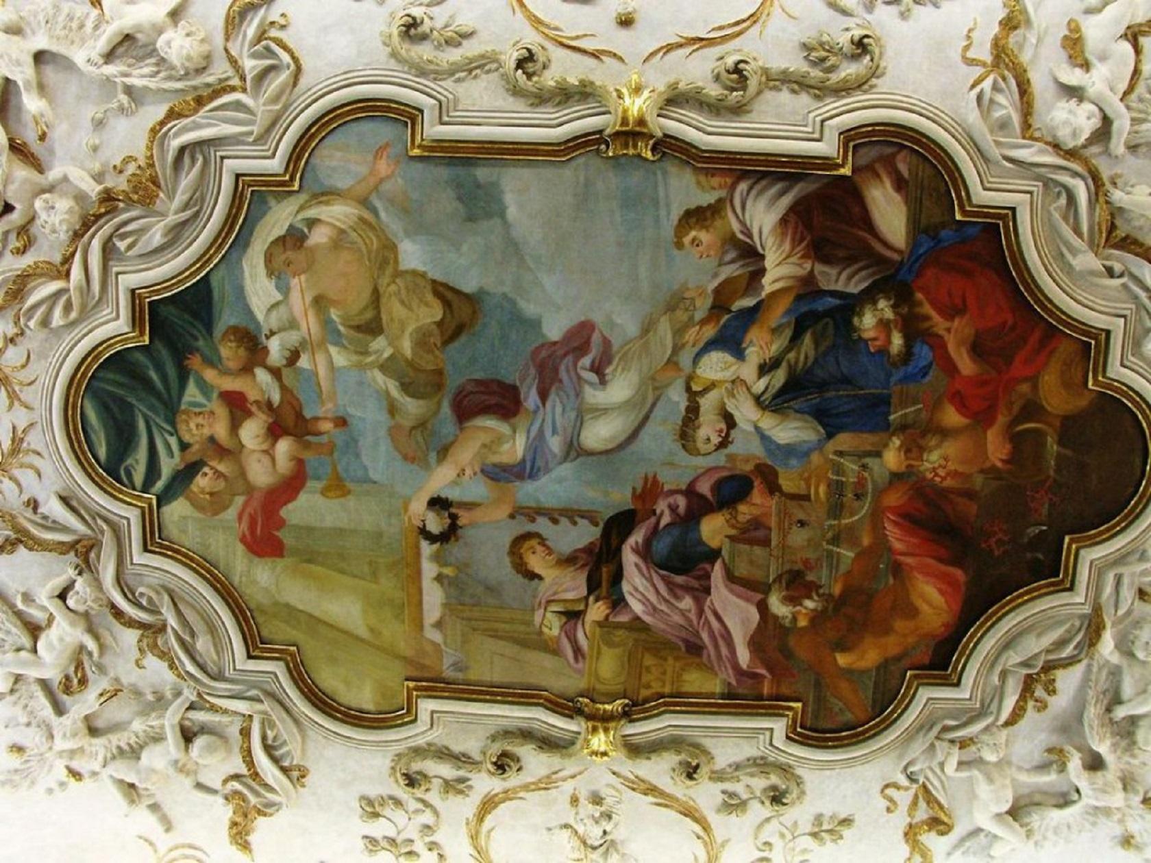 Потолочная фреска Штернбергского дворца