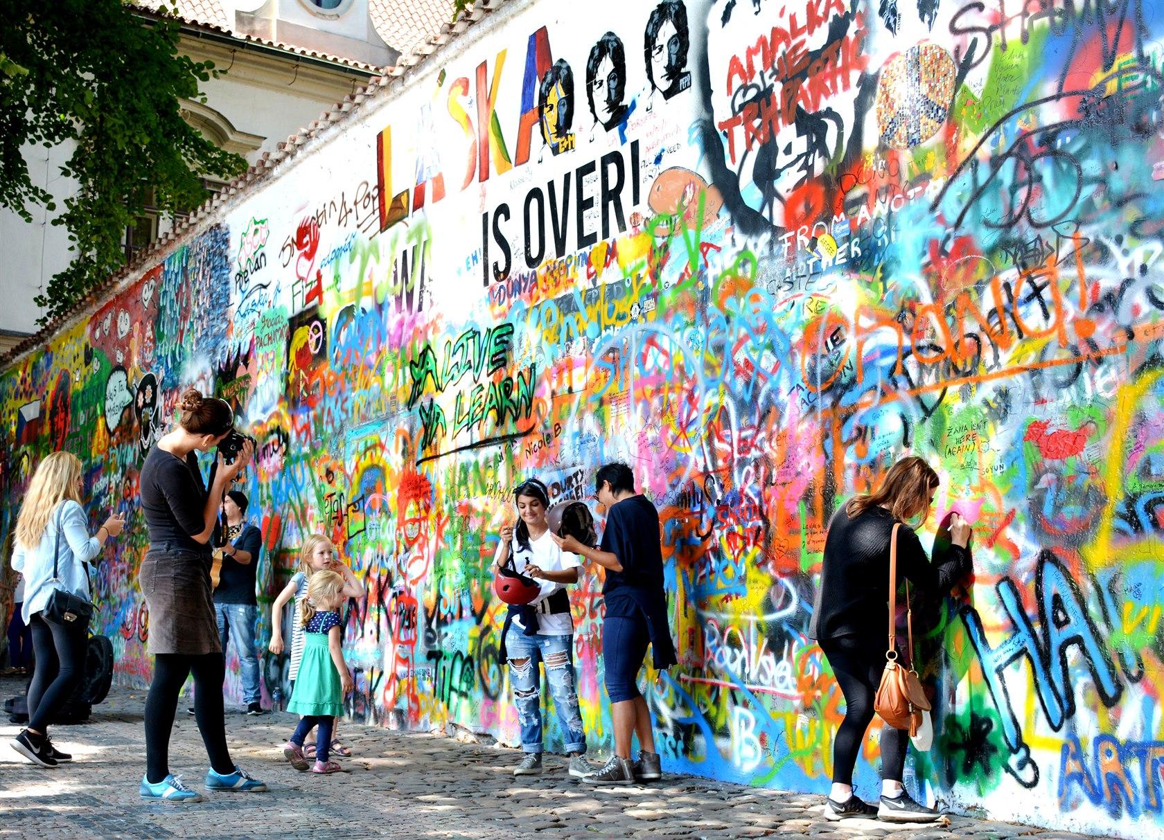 Стена Леннона в последние годы