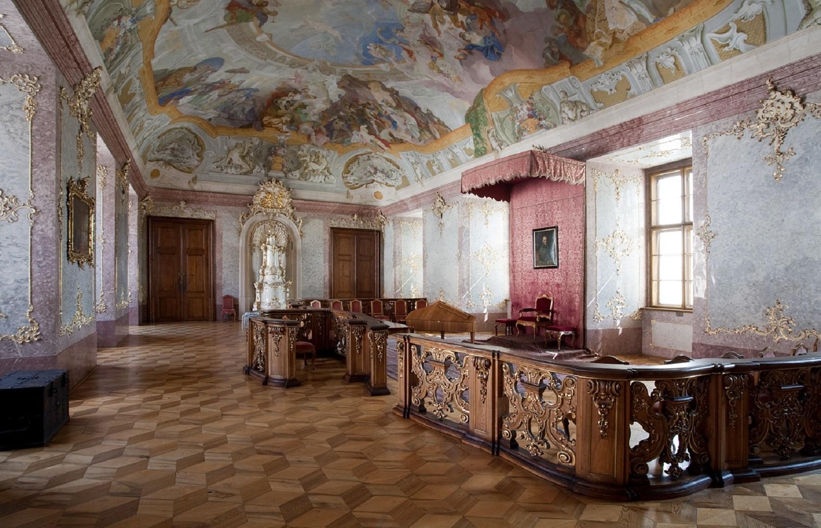 Зал замка Кромержиж