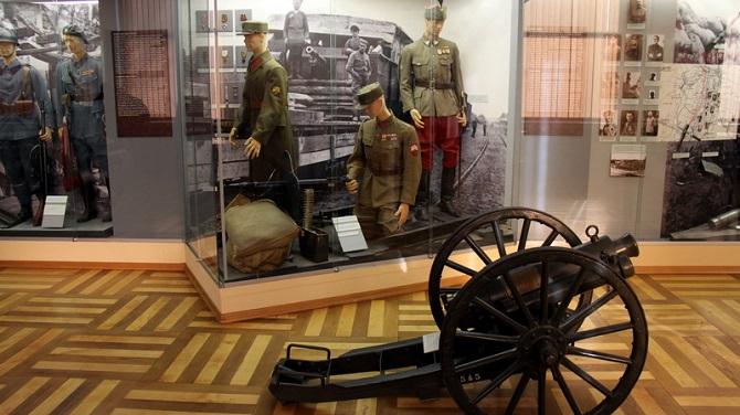 Экспонаты Военного музея