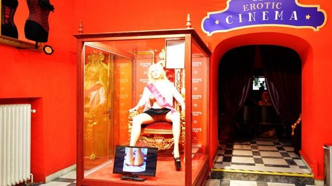 Кинозал в Музее секс-машин